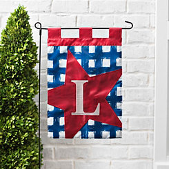 Blue Check Monogram L Flag Set