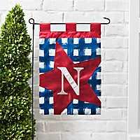 Blue Check Monogram N Flag Set