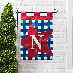 Blue Check Monogram N Flag Set