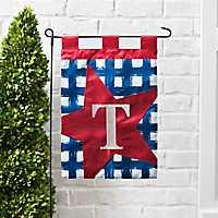 Blue Check Monogram T Flag Set