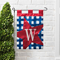 Blue Check Monogram W Flag Set
