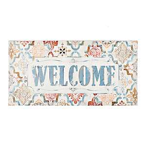 Welcome Medallion Outdoor Canvas Art Print