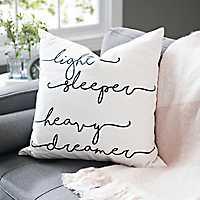 Light Sleeper Heavy Dreamer Pillow