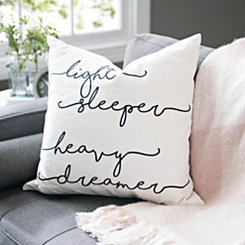 Light Sleeper Heavy Dreamer Pillow