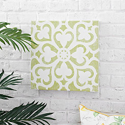 Green Tile Outdoor Canvas Art Print