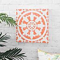 Orange Tile Outdoor Canvas Art Print