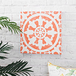 Orange Tile Outdoor Canvas Art Print