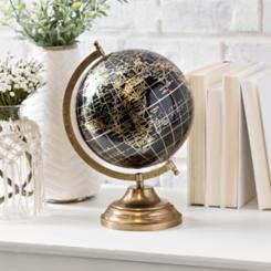 Black Gold Foil Globe
