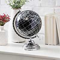 Black Silver Foil Globe