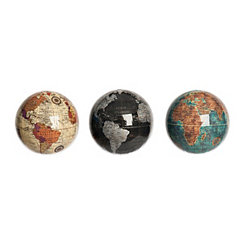 Miniature Globe Orbs, Set of 3