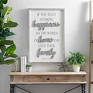 Bring Happiness to the World Wall Plaque