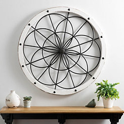 White and Black Kaleidoscope Wall Plaque