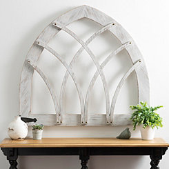 Rustic Wood with Metal Accents Barn Arch Plaque