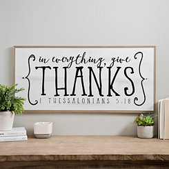 In Everything Give Thanks Wood Wall Plaque