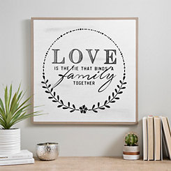 Love Binds A Family Together Wood Wall Plaque