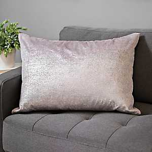 Blush Metallic Velvet Pillow