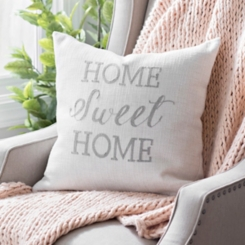 Linen Home Sweet Home Pillow