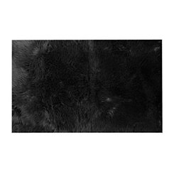 Charcoal Aspen Faux Fur Rug