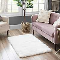White Aspen Faux Fur Rug
