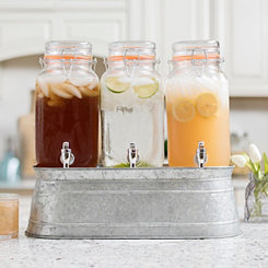 Gallon Beverage Dispensers with Galvanized Stand