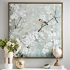 Cherry Blossoms Framed Canvas Art Print