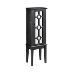 Julia Black Mirrored Jewelry Armoire