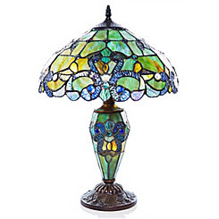 Blue Green Magna Carta Stained Glass Table Lamp