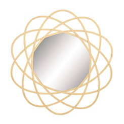 Matted Gold Orbit Metal Wall Mirror