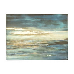 Abstract Sunset at Sea Canvas Art Print