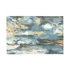 Abstract Horizon Sunset Canvas Art Print