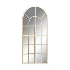 Silver Arch Window Paned Wall Mirror