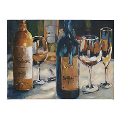 Contemporary Wine Still Life Canvas Art Print