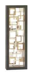 Floating Squares Abstract Gold Panel Wall Plaque