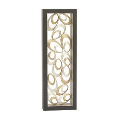 Floating Ovals Abstract Gold Panel Wall Plaque