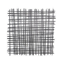 Woven Grid Black Metal Wall Plaque