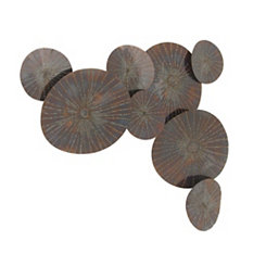 Rustic Black Waterlily Wall Plaque
