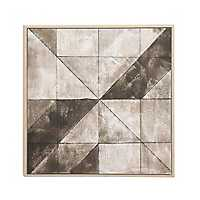 Gray Abstract Geometric Framed Canvas Art Print