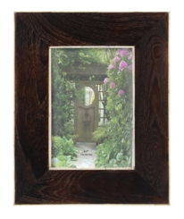 Dark Teak Wood Bone-Lined Picture Frame, 5x7