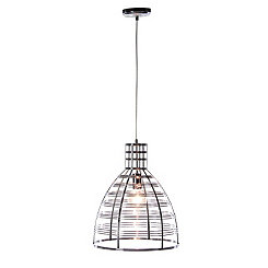 Black Metal Bell Cage Pendant Lamp