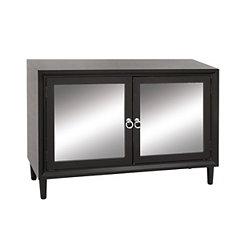 Black Mirrored 2-Door Cabinet