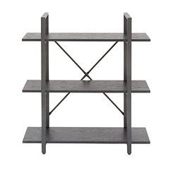 Black X-Back 3-Tier Bookshelf