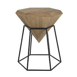 Wooden Diamond Accent Table