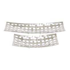Silver Lattice Trays, Set of 2