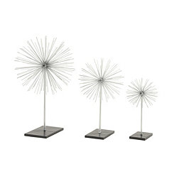 Silver Starburst Sculptures, Set of 3