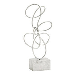 Hammered Silver Twisted Loop Sculpture