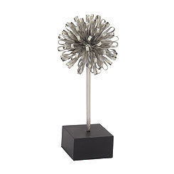 Silver Looped Orb Sculpture