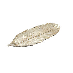 Silver Feather Ceramic Tray