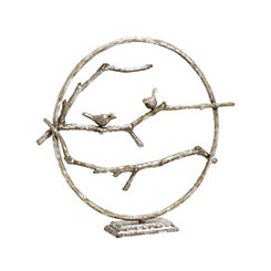 Branched Ring with Birds Sculpture