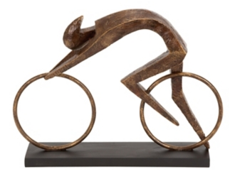 Bronze Abstract Cyclist Statue