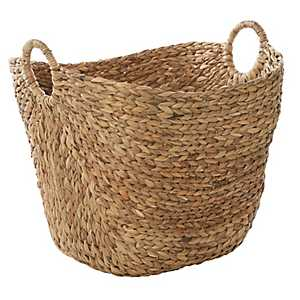 Natural Braided Seagrass Basket